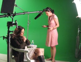Ricki Lake on set green screen loyal studios