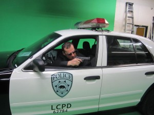 Bob Bekian on set